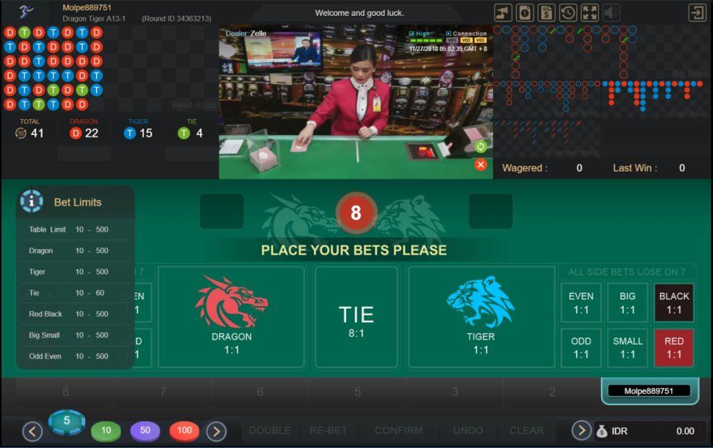 Cara Main Casino Dragon Tiger Sbobet